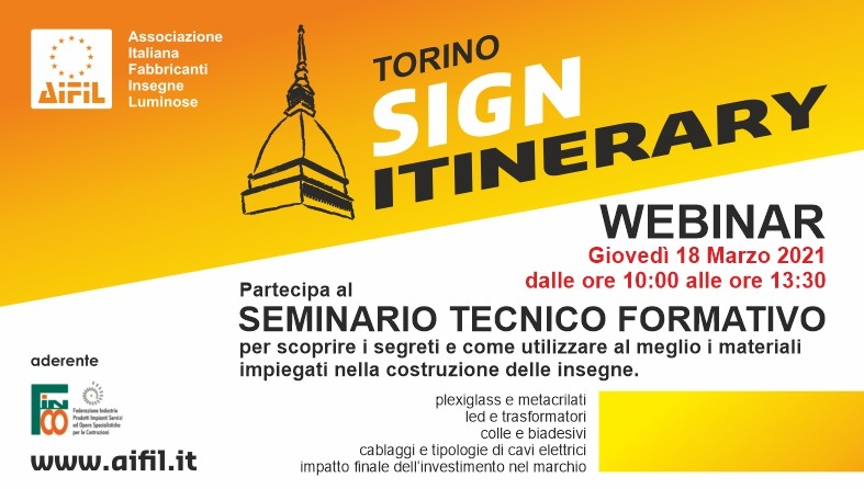 Image of  Sign Itinerary Turin: Webinar 2021