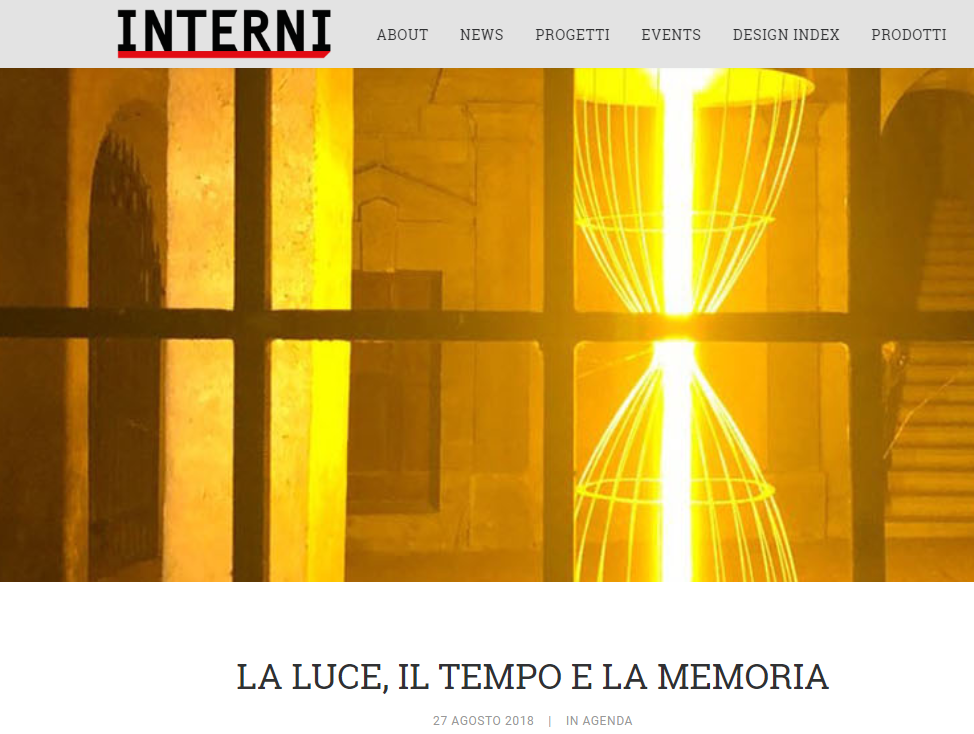 Image of  INTERNI: Light, time and memory