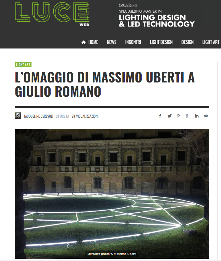 Image of  LuceWeb: The homage paid by Massimo Uberti to Giulio Romano