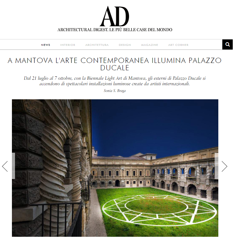 Image of  ARCHITECTURAL DIGEST: Contemporary art lights up Palazzo Ducale in Mantova