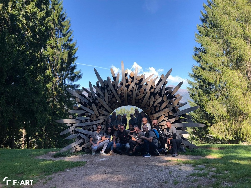 Immagine di  F/ART team building ad Arte Sella