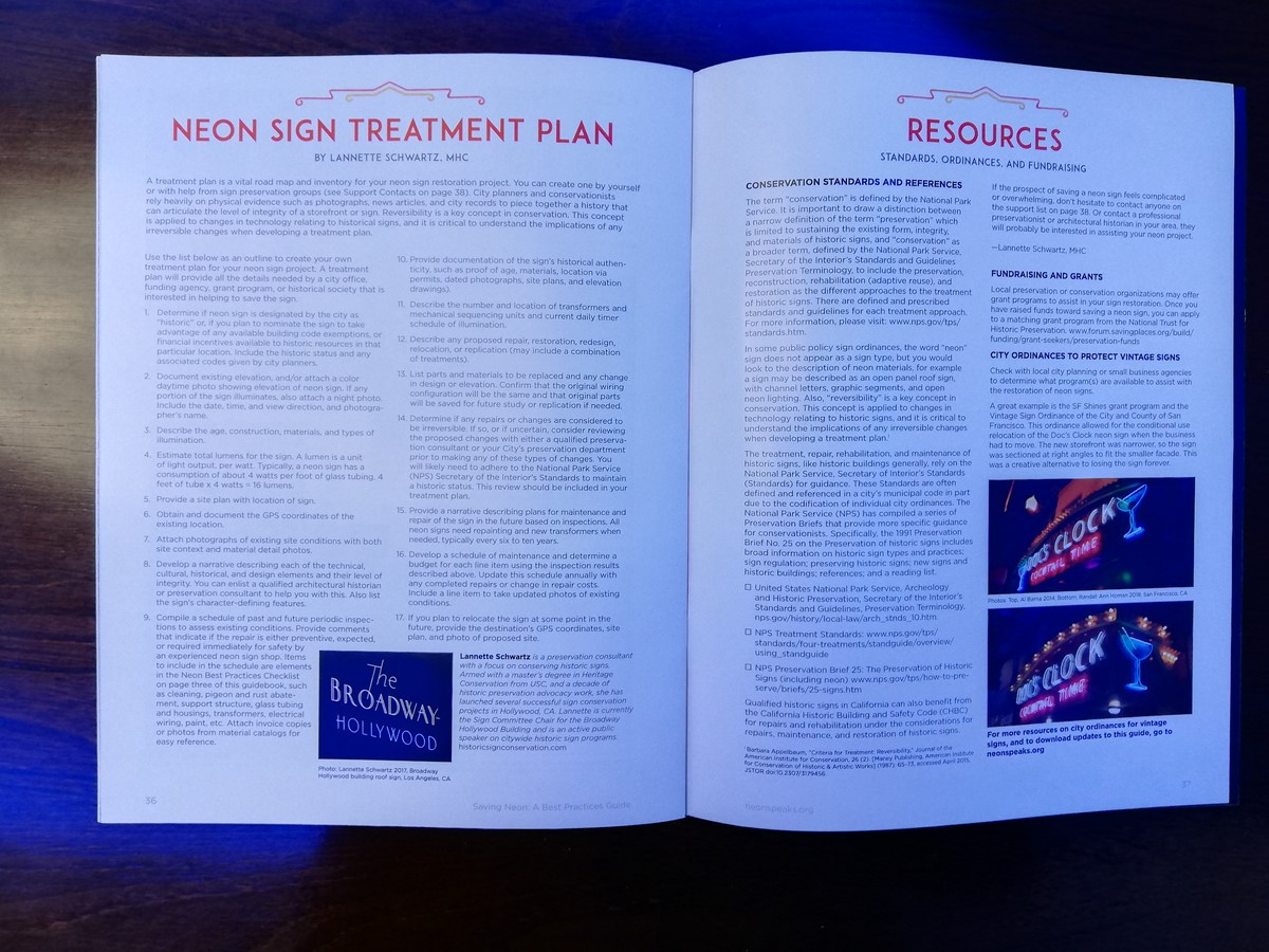 BOOK - Saving Neon: a best practices guide | Neon and Cold